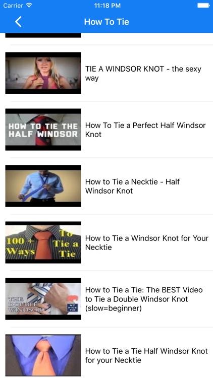 How To Tie a Tie . screenshot-3