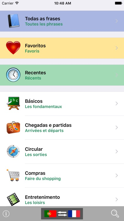 Portuguese / French Talking Phrasebook Translator Dictionary - Multiphrasebook screenshot-0