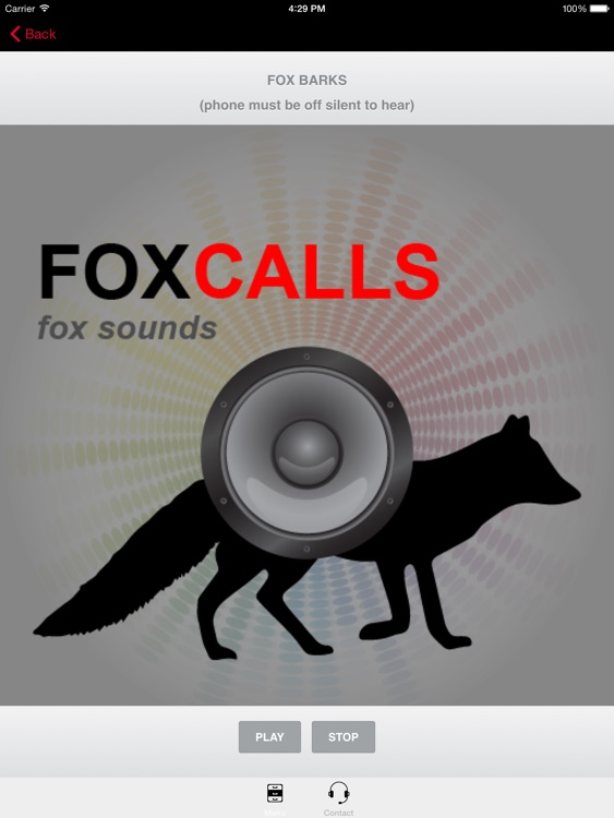 REAL Fox Calls & Fox Sounds for Fox Hunting -- (ad free) BLUETOOTH COMPATIBLE screenshot-0
