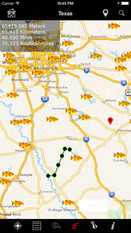 USA Fishing Lakes: Fish Species, Depths and Map