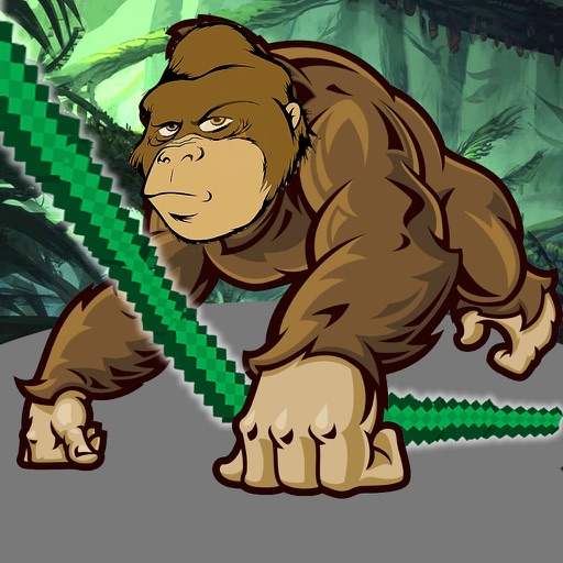 Gorilla Monster Rope - Jump and Fly in Solitaire Master Adventure