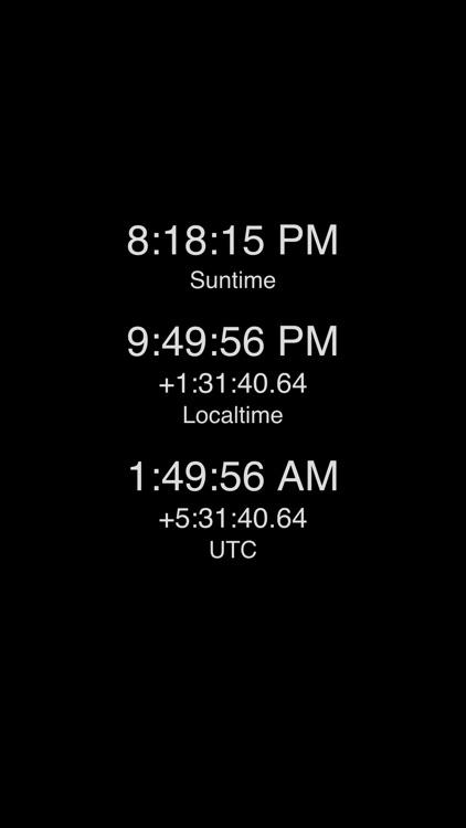 Suntime Clock