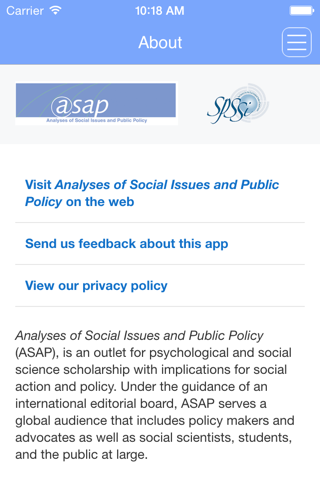 Screenshot of Analyses of Social Issues and Public Policy