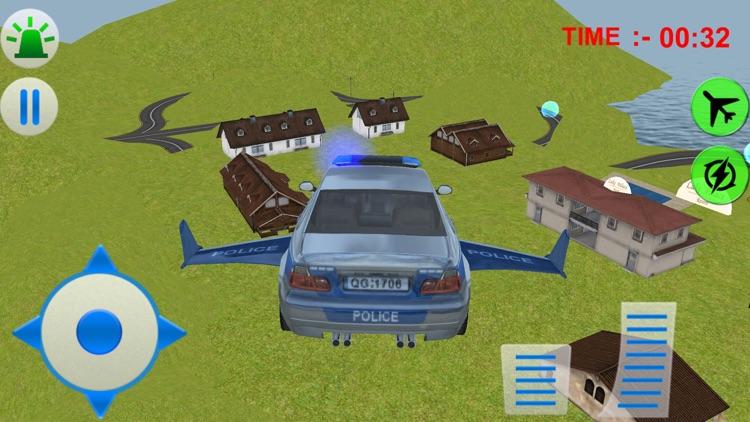 Flying Police Car Simulator 3d games screenshot-4