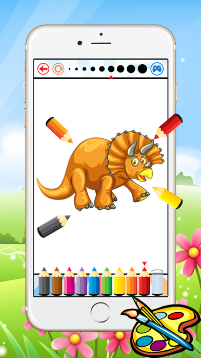 Dinosaur Dragon Coloring Book - Drawing for kid free game, Dino Paint and color games good screenshot three