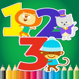 123 Coloring Book for children age 1-10: Learn to write and color numbers with each coloring pages game free