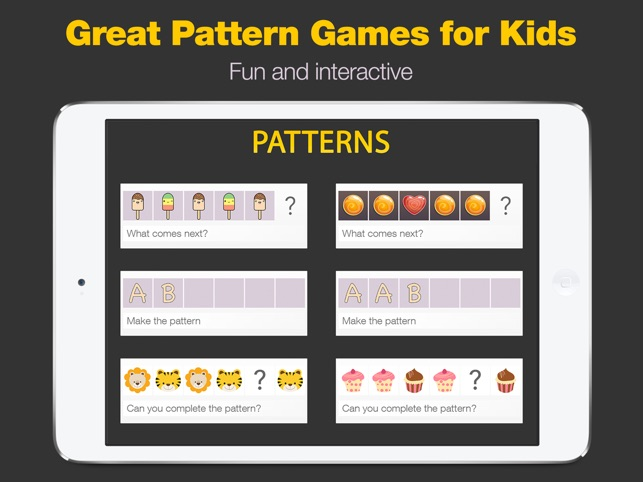 Patterns 3 patterns games in 1 app