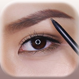 Eyebrows Makeover – Photo Montage With Perfect Eye-Brow Shape.s Stickers