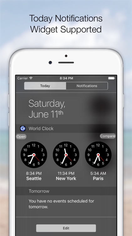World Times & Alarm - Widget screenshot-0