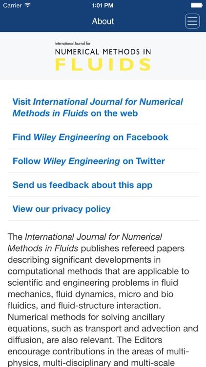 International Journal for Numerical Methods in Fluids