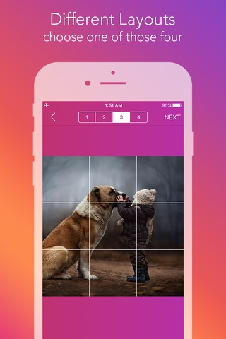 Griddy Pro - Split Pic in Grids For Instagram Post screenshot 3