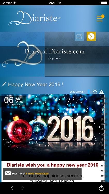 Diariste.com - Diary, Personal journal screenshot-4