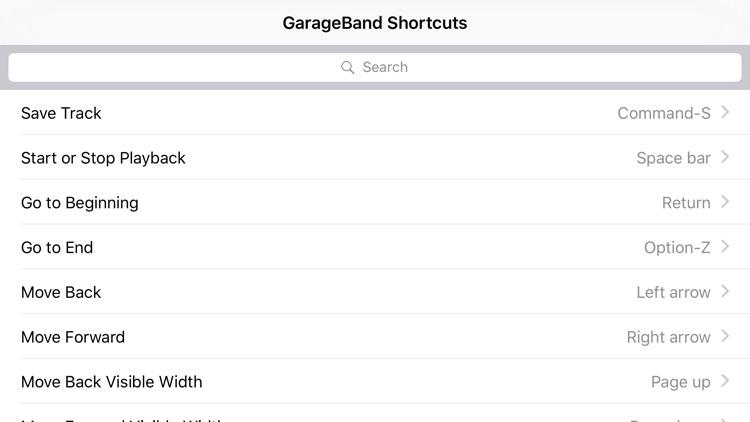 Shortcut: GarageBand Edition screenshot-3