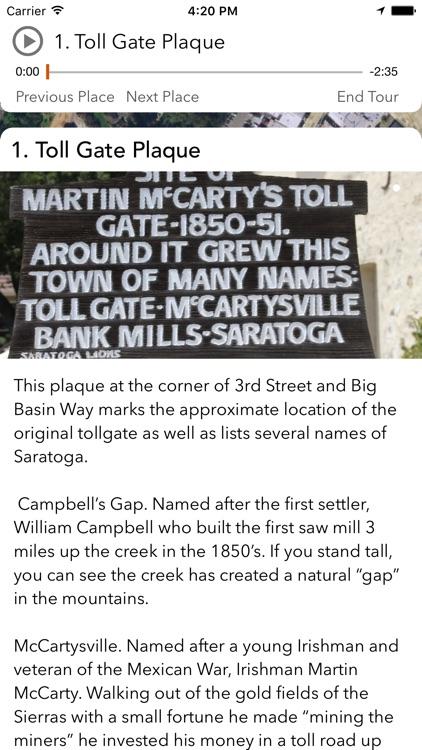 The City of Saratoga History App screenshot-3