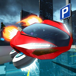 Hover Car Parking Simulator - Flying Hoverboard Car City Racing Game FREE