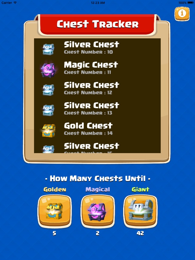 chest tracker clash royale