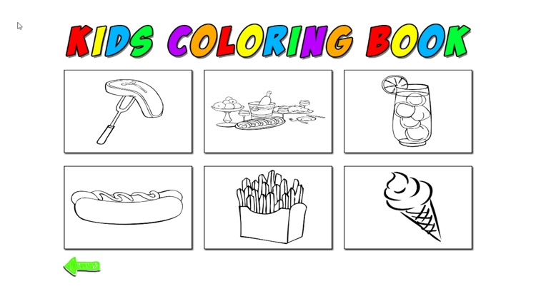 Kids Coloring Food
