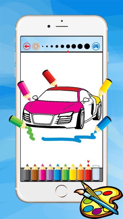 Super Car Coloring Book