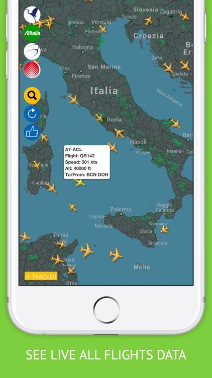 Italy Flights : Alitalia, Meridiana Flight Tracker & Air Radar