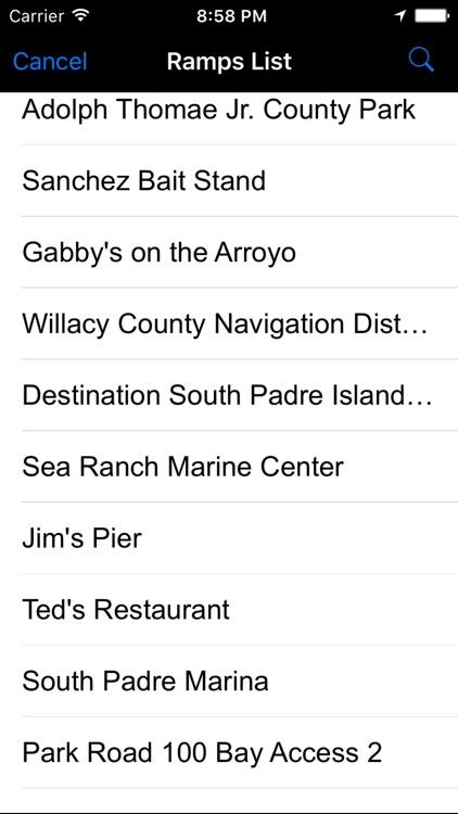 Texas: Salt Water Boat Ramps