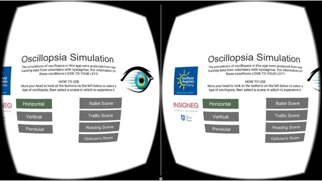 Nystagmus Oscillopsia Sim VR on the App Store