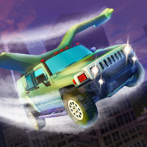 Flying SUV Driver Simulator 3D - Try to drive or fly SUV in our futuristic car simulator!