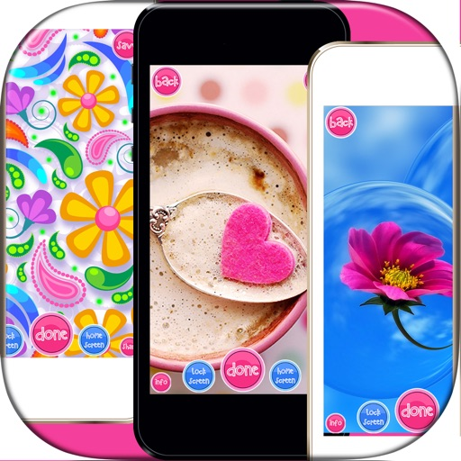 Girly Wallpaper s - Set Cute Pink Backgrounds HD | Apps