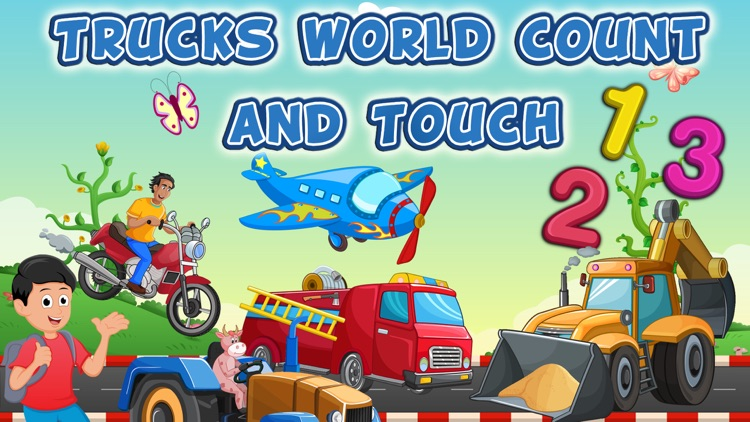 Toddler Trucks World Count and Touch- 123 counting Activity Game for kids