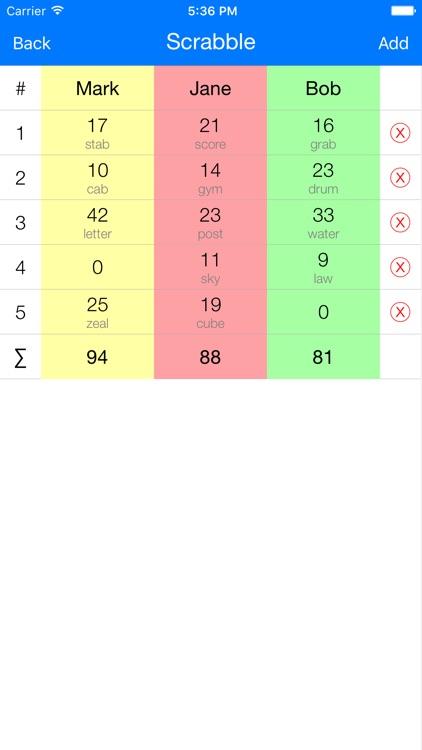 Scoring - Scorer For Sport, Table, Card Games