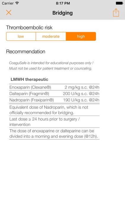 CoaguSafe - Anticoagulant screenshot-3