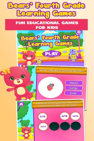 Bears 4th Grade Games School Edition screenshot 1