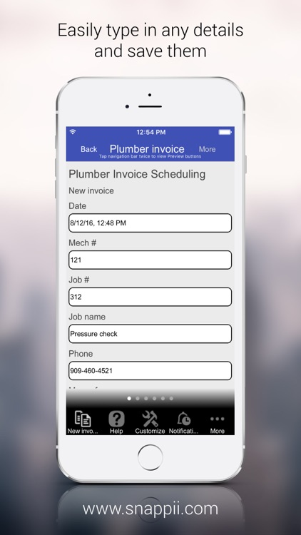 Plumber Invoice Scheduling
