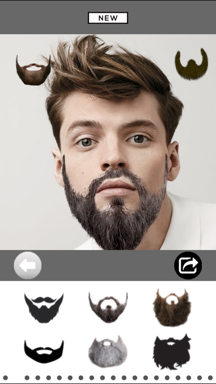 Mooch - Beard & Mustache Photo Editor for Men Face