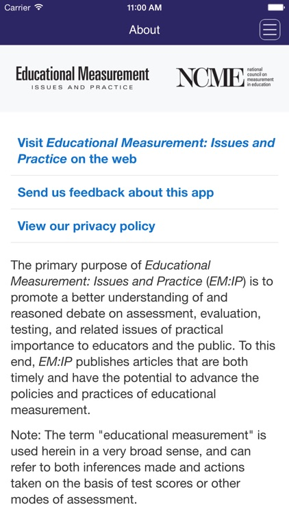 Educational Measurement: Issues and Practice