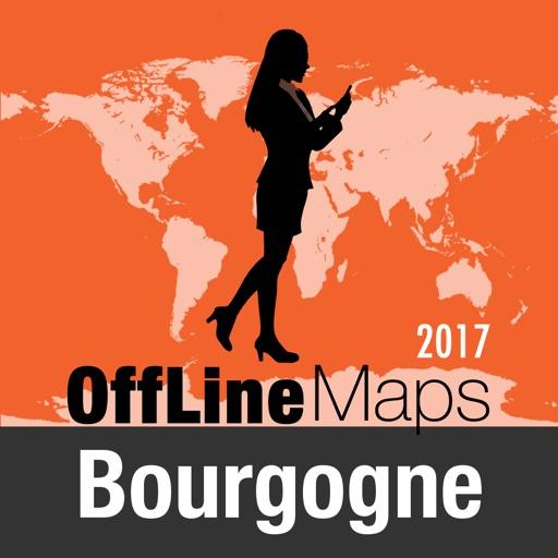 Borgoña mapa offline y guía de viaje