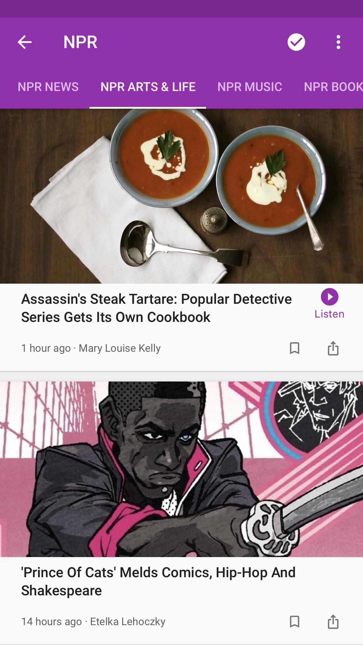 Google Play Newsstand Screenshot