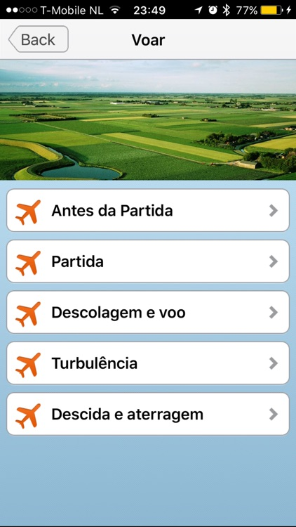 Medo de Voar App