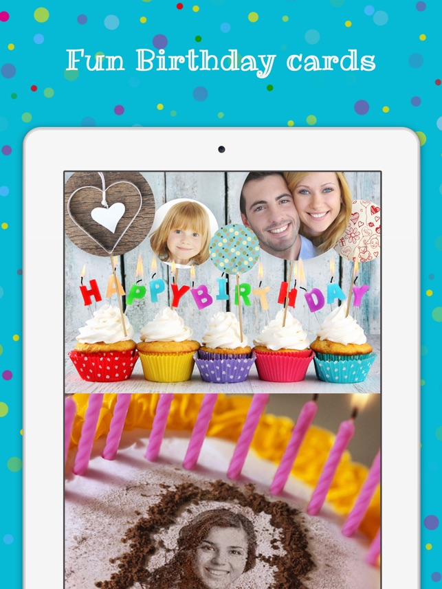 Birthday cards free happy birthday photo frame gift cards birthday cards free happy birthday photo frame gift cards invitation maker on the app store bookmarktalkfo Image collections