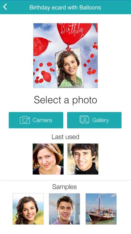 Birthday Cards Free: happy birthday photo frame, gift cards & invitation maker screenshot-3