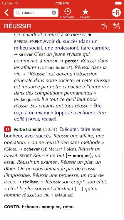 Le Petit Robert de la langue française screenshot-3