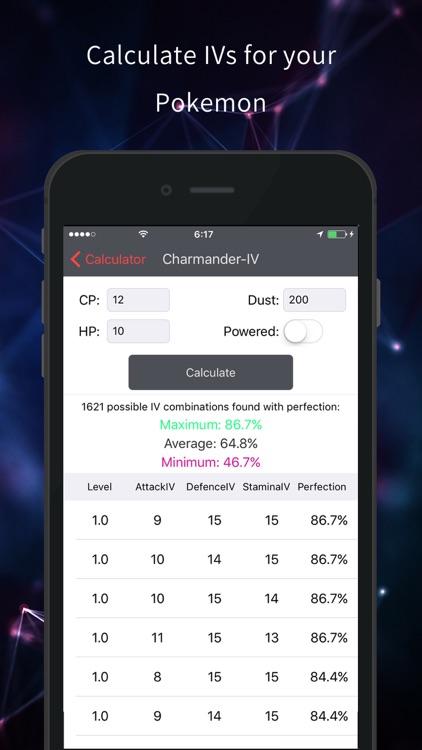 Poke Assistant - Ev & IVs Calculator for Pokemon GO screenshot-3