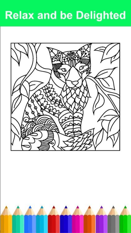 Mandala Adult Coloring Book Free Stress Relieving screenshot-3
