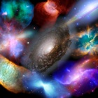 Astronomical Object - Galaxy Nebula Supernova and Planet icon