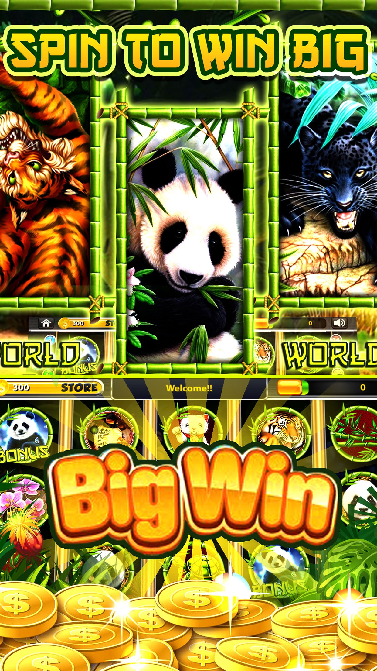 Wild Diamond Panda Slots Free Slot Machines Games Screenshot