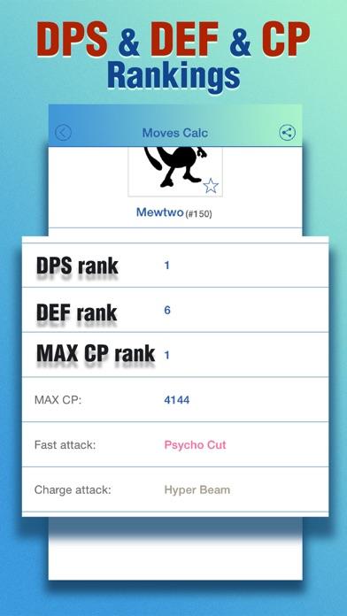 Moves Calculator for Pokemon GO - Damage&DPS