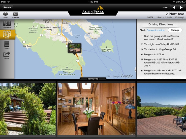 Alain Pinel Realtors for iPad screenshot-3