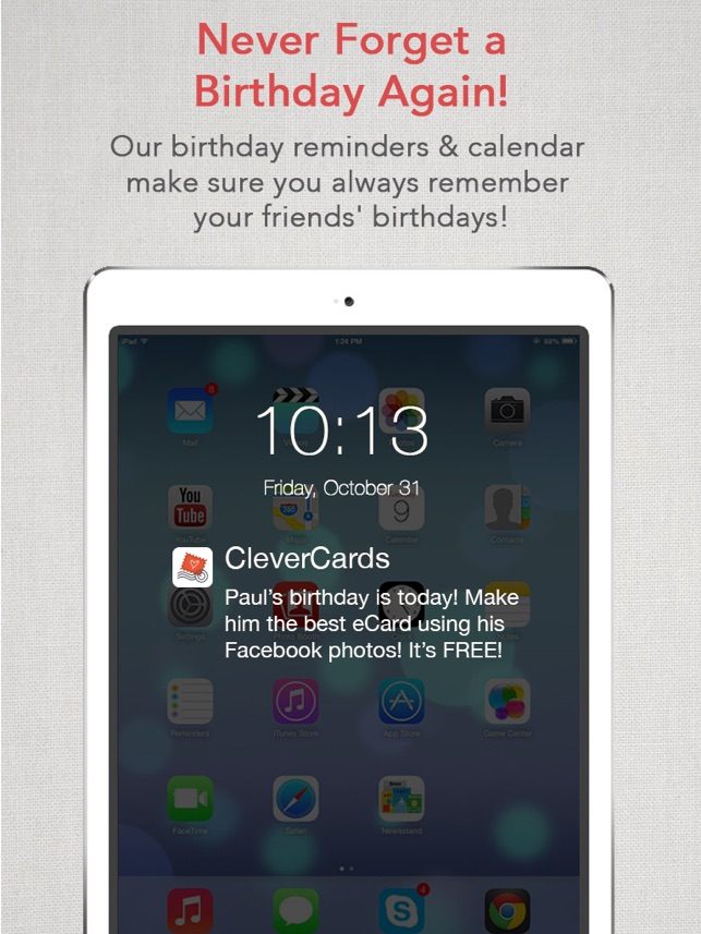 Clevercards greeting cards ecards for facebook on the app store clevercards greeting cards ecards for facebook on the app store m4hsunfo
