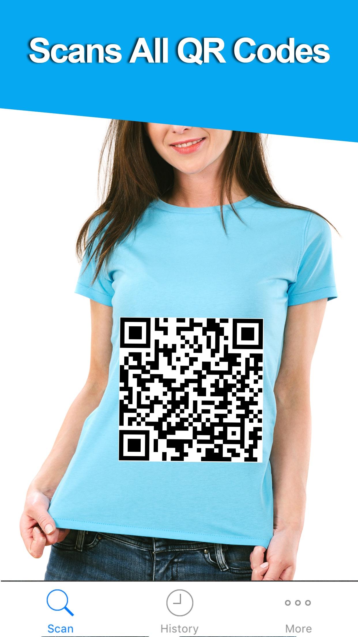 Free QR Code Reader & Barcode Scanner for iPhone Screenshot