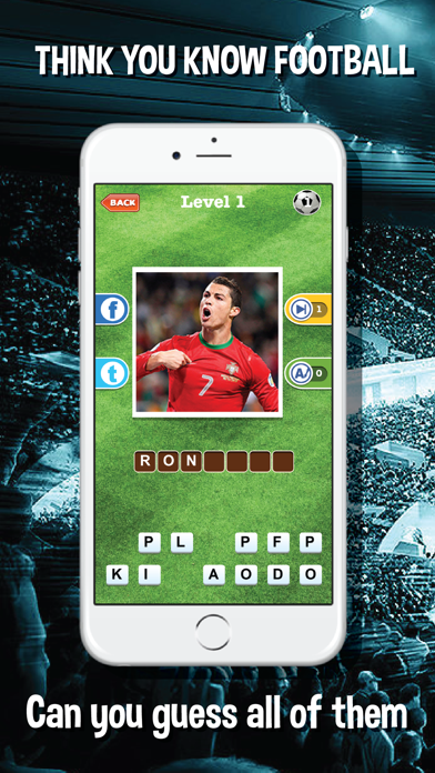 Guess who's the football players quiz app - Top footballer stars trivia game for real soccer fan screenshot one