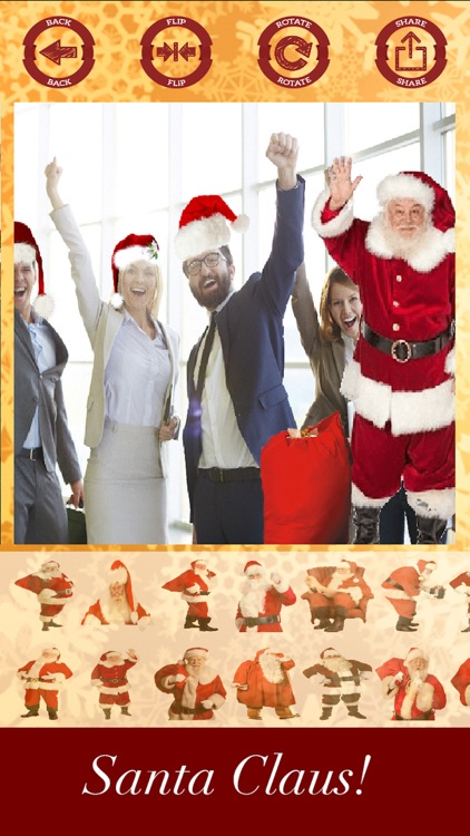 Santa Claus stickers - your photo on Christmas screenshot-4